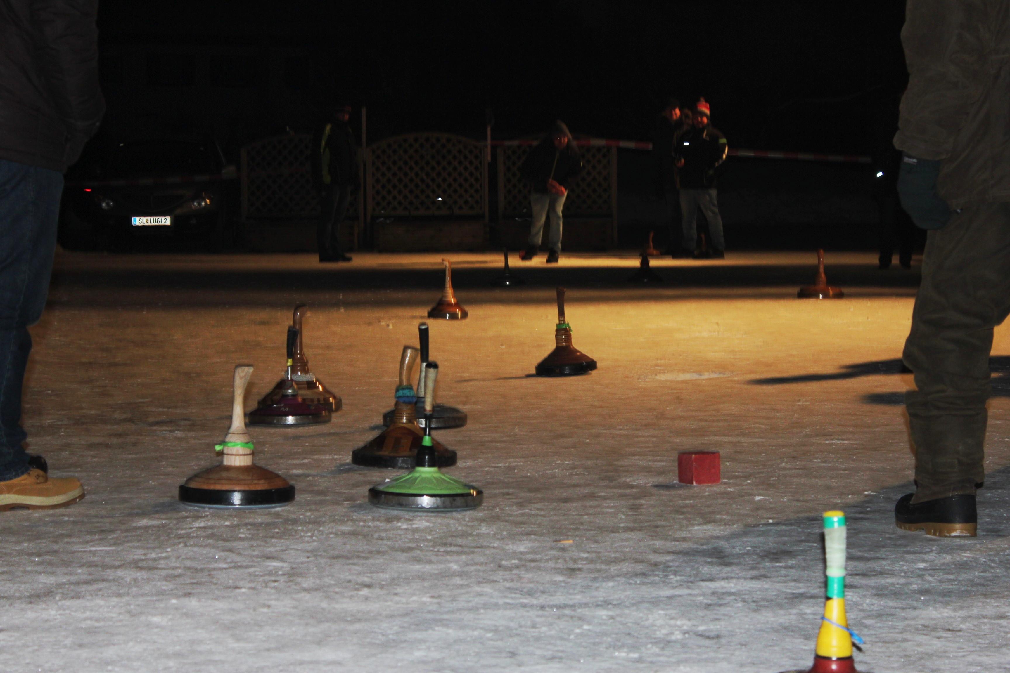Eisstockschießen beim Troadkastn 23.01.2017