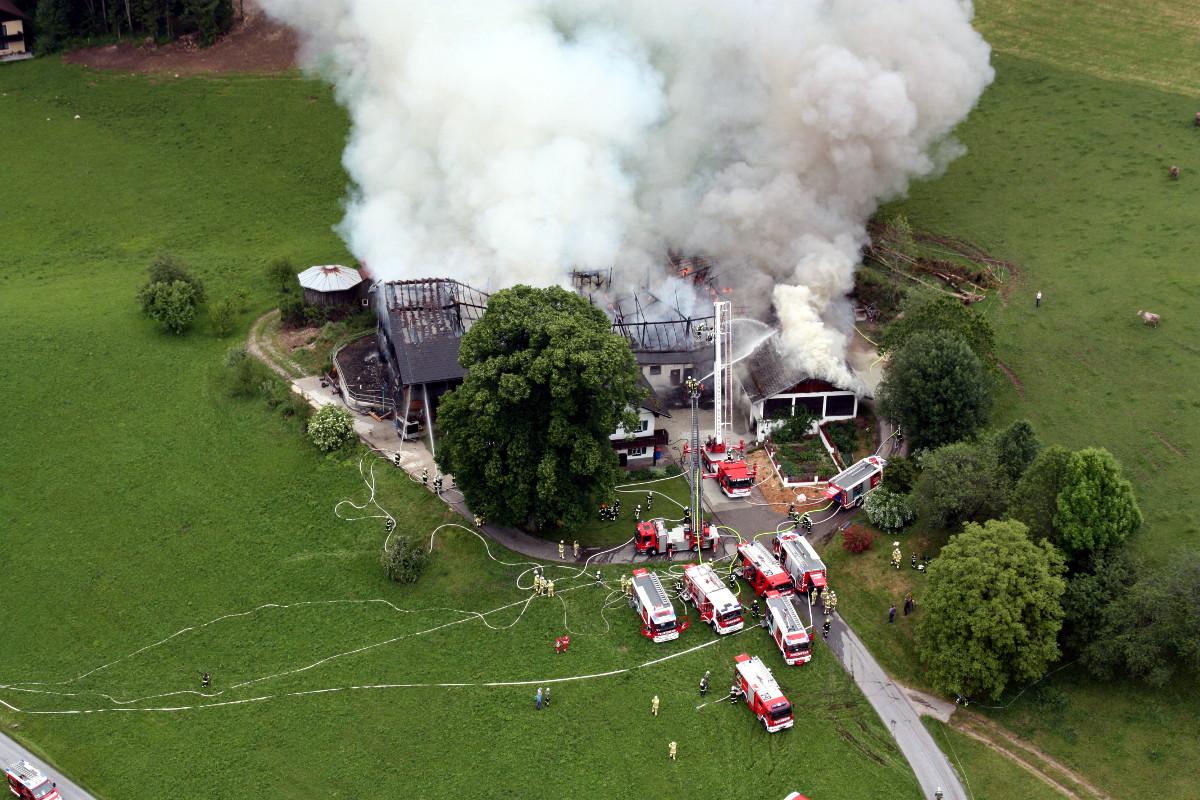 Großbrand beim Roiderhof - 06.06.2017